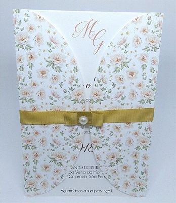Convite Casamento com envelope personalizado