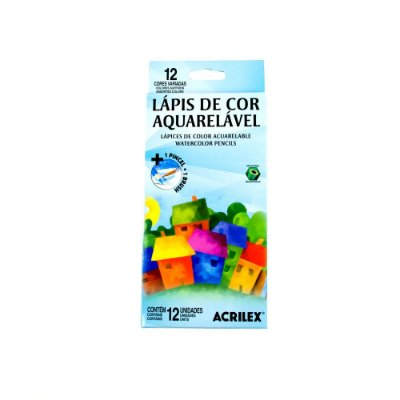 Lápis De Cor Aquarelável Acrilex C/12 Und