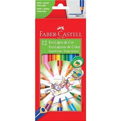 Lápis de Cor Superponta Faber Castell 12 Cores