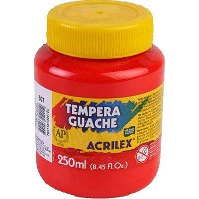 Tinta Guache 250ml Vermelho Fogo 507 Acrilex
