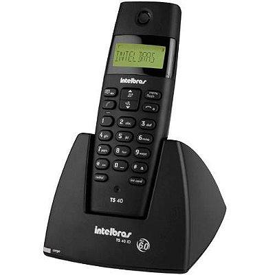 Telefone s/ Fio Intelbras c/ Dect TS 40 ID c/ Identificador de Chamadas