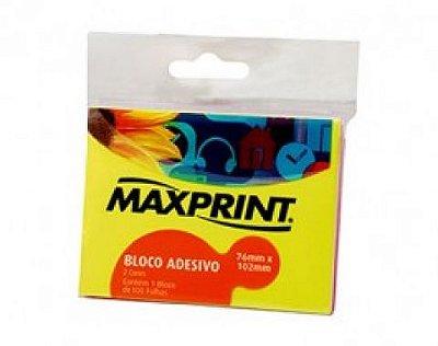 Bloco Adesivo 76x102 Amarelo - Maxprint