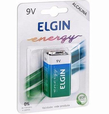 Bateria 9v Volts Alcalina Elgin