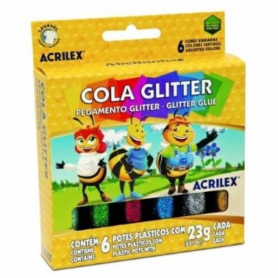 Cola glitter 6 potes 23 g cada