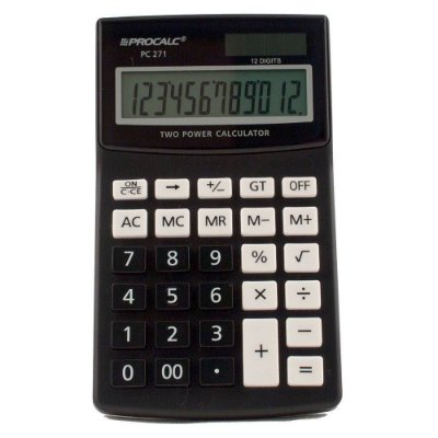 Calculadora De Mesa Pc271 12 Digitos Procalc
