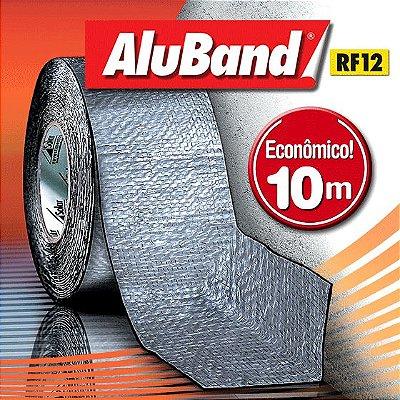 Manta Multiuso de Alumínio com Ráfia na cor Cinza - AluBand RF12 Cinza - Rolos 10m