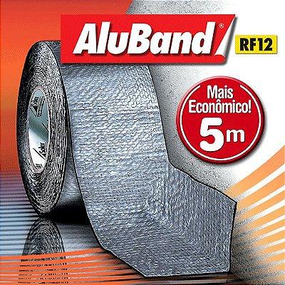 Manta Multiuso de Alumínio com Ráfia na cor Cinza - AluBand RF12 Cinza Mini - Rolos 5m