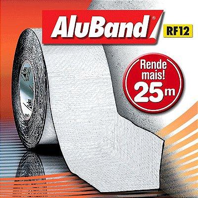 Manta Multiuso de Alumínio com Ráfia na cor Branca - AluBand RF12 Branca Maxi - Rolos 25m