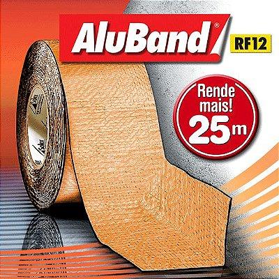 Manta Multiuso de Alumínio com Ráfia na cor Terracota - AluBand RF12 Terracota Maxi - Rolos 25m