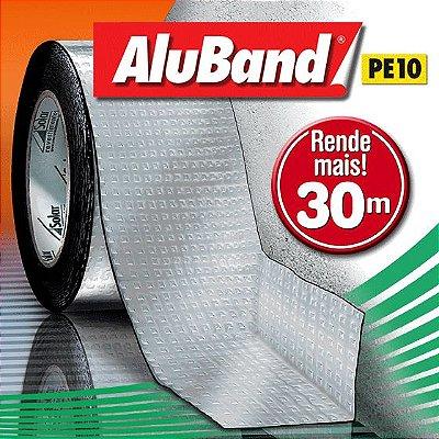 Manta Impermeabilizante Asfáltica Autoadesiva Multiuso de Alumínio com Polietileno - AluBand PE10 Alumínio Maxi - Rolos 30m