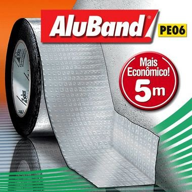 Manta Asfáltica - AluBand PE06 Alumínio Mini - 20cm x 5m