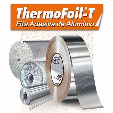 Fita Adesiva de Alumínio - ThermoFoil T - 5cm x 10m - Tubo Fresco