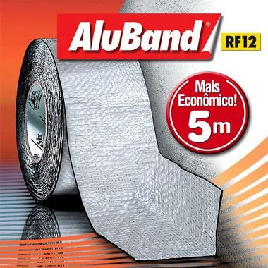 Fita adesiva para telhado - AluBand RF12 Alumínio Mini - 70cm x 5m