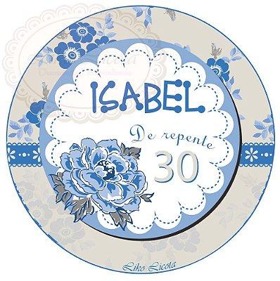 Kit digital floral azul