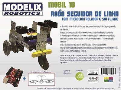 Mobil 10 - Robô Seguidor de Linha com Microcontrolador, Software, Motores e Sensores