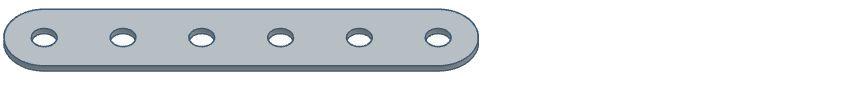 Modelix 297 - Barras com 6 furos