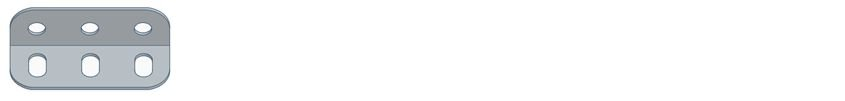 Modelix 298 - Cantoneira 3 furos