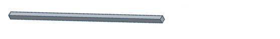 Modelix 326 - Eixo Quadrado 126mm