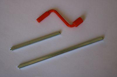 Manivela com Alavancada de 28mm e eixo quadrado 56mm ou 96mm