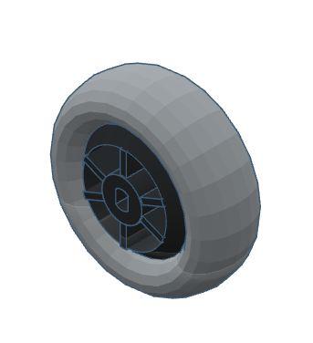 "283 - Roda Modelix 59mm com centro oval para motores ""Strong"" amarelos"