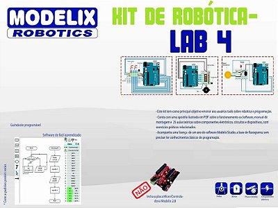 Modelix 319 - Kit Eletrônico Lab 4 + Software Modelix Robotics (Não inclui o controlador UNO que é necessário para utilizar esse kit)