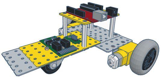 Modelix 318 - Boxer 3 + Software Modelix Robotics para controlador UNO.(Não inclui o controlador)
