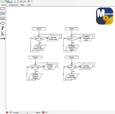 Modelix 320 -  Software para Robótica Modelix System Studio UNO - (para uso com controlador Uno não incluso)