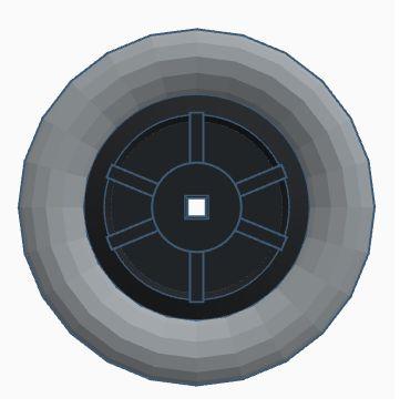 Modelix 348 - Roda com furo Quadrado 49 mm