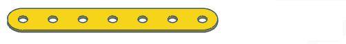 Modelix 384a - Barra 1 Fileira Plastica 1x7 Amarelo
