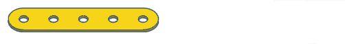 Modelix 383a - Barra 1 Fileira Plastica 1x5 Amarelo