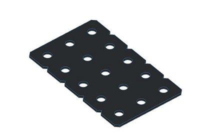Modelix 353p - Plataforma Plastica 5x3 Preta