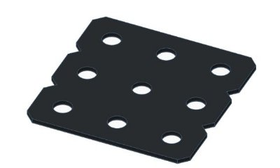 Modelix 354p - Plataforma Plastica 3x3 Preta