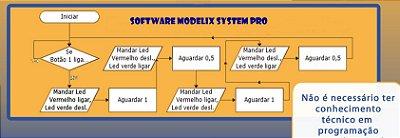 Modelix 372 -  Software para Robótica Modelix System Pro com Cenários (para uso com controlador Modelix não incluso)