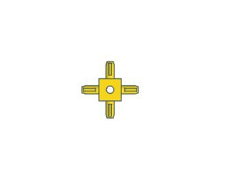 Modelix 419 - Kids Cubo 360 graus - amarelo