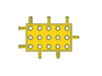 Modelix 416 - Kids Plataforma 3x5 - amarelo