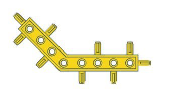 Modelix 412 - Kids Barra 45 graus - amarelo