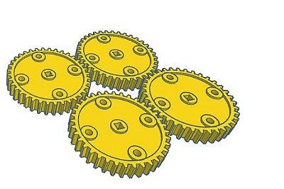 Modelix 241 - Conjunto de Engrenagem 36 Dentes