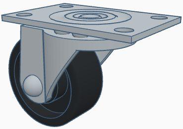 Modelix 236 Roda Boba ( com eixo giratório)