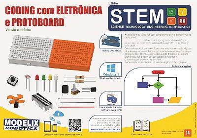Modelix 498  - Coding com Eletrônica e Protoboard Uno - Linha STEM