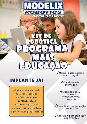 Kit Robótica Modelix Programa Mais Educação - 2 grupos de 5 alunos