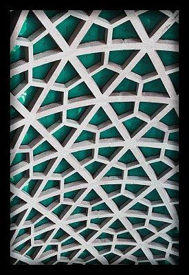 Quadro Decorativo Geométrico Estrutura Verde