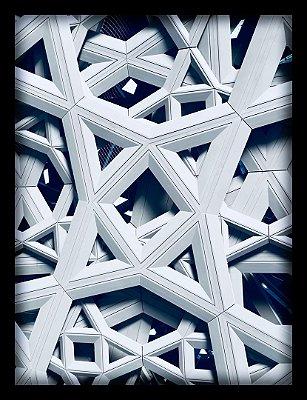Quadro Decorativo Geométrico Estrutura Metálica