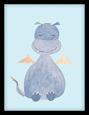 Quadro Decorativo Infantil Dragão