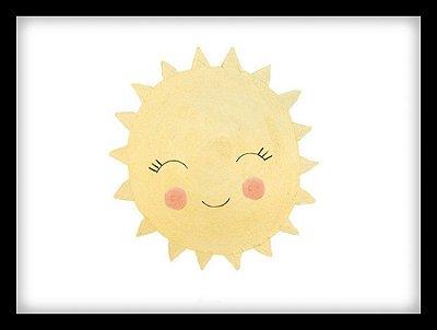 Quadro Decorativo Infantil Sol
