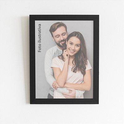 Porta-retrato preto 10x15