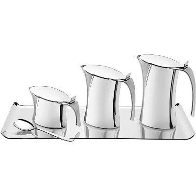 Jogo para Café ou Chá Tramontina Aço Inox 5 Peças Harmony