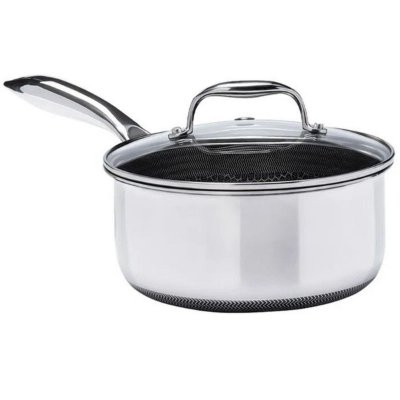 Panela Oxford Inox Fundo Triplo CookingPro 18cm 2L Preta