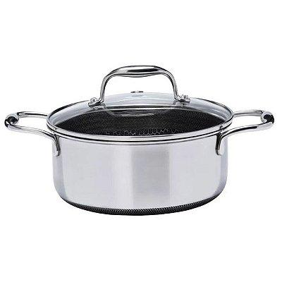 Caçarola Oxford Inox Fundo Triplo CookingPro 20cm 2,5L Preta