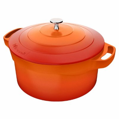 Caçarola Le Cook Pegadores de Silicone 32cm Premier Orange