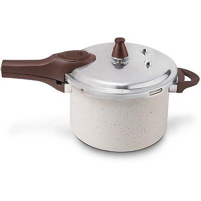 Panela de Pressão Brinox Antiaderente Pressure 4,2L Vanilla